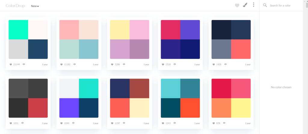 Jedno z narzędzi do tworzenia palet kolorów