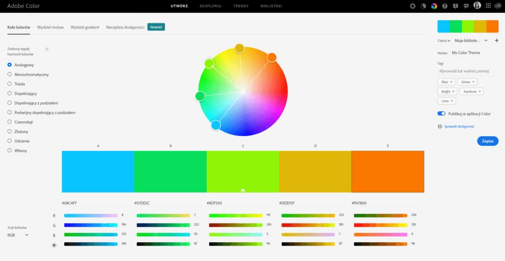 Jedno z najlepszych narzędzi do tworzenia palet kolorów
